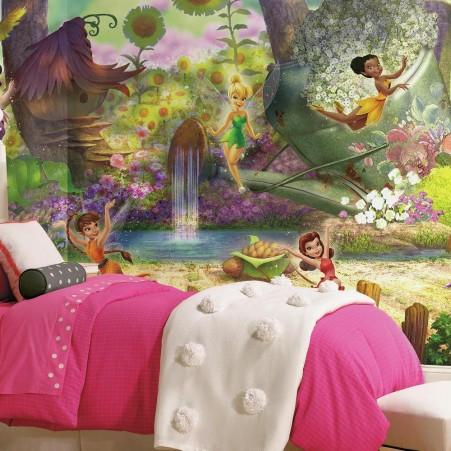 Disney fairies pixie hollow xl wallpaper mural for Disney tinkerbell mural