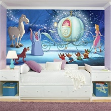 Disney Princess Cinderella Carriage XL Wall Mural