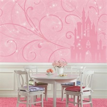 Disney Princess Scroll Castle XL Wallpaper Mural
