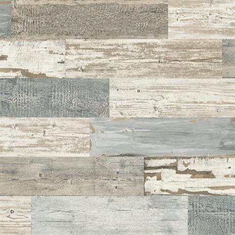 Bmr71502 Distressed Wood Tile Wallpaper Boulevard