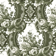 Dreamer Green Damask Wallpaper