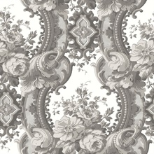 Dreamer Grey Damask Wallpaper