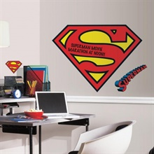 Dry Erase Superman S-Shield Logo Giant Wall Decals