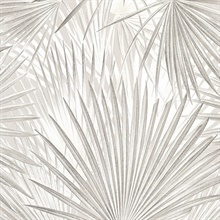 Ducasse Light Grey Palms