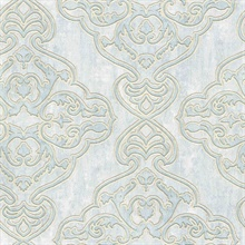 Elena Light Blue Damask