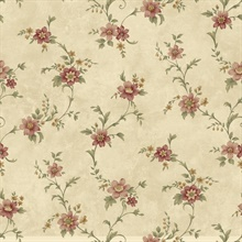 Elizabeth Bronze Floral Trail Wallpaper