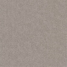 Ella Rose Taupe Faux Fabric Commercial Wallpaper