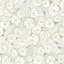 Emery Grey Floral Wallpaper