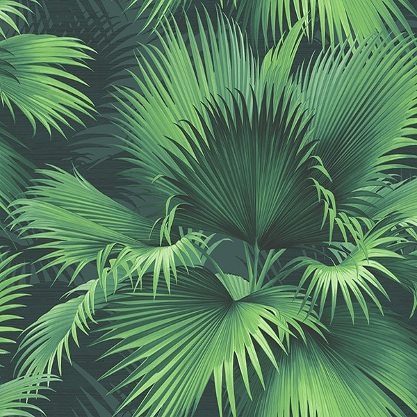 Endless Summer Dark Green Palm Wallpaper Ps40104