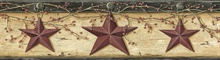 Ennis Wheat Rustic Barn Star Border