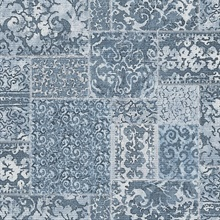 Esma Blue Vintage Carpet Wallpaper