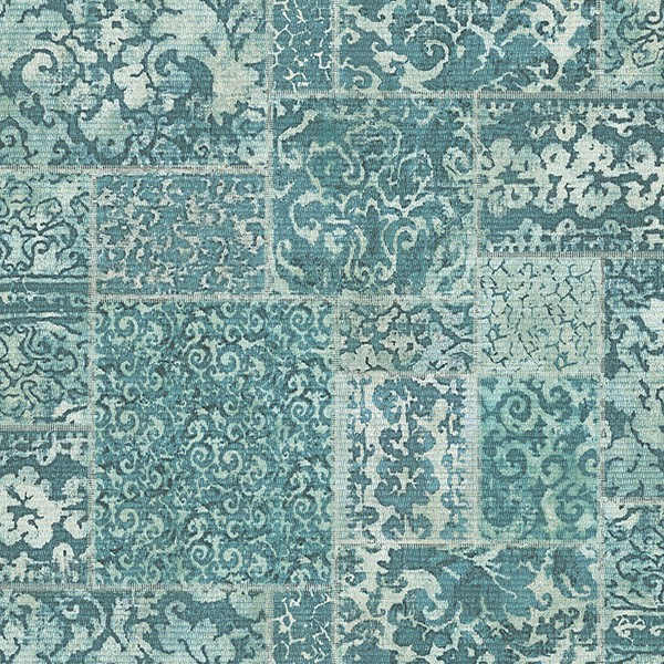 2540 24060 Esma Teal Vintage Carpet Wallpaper