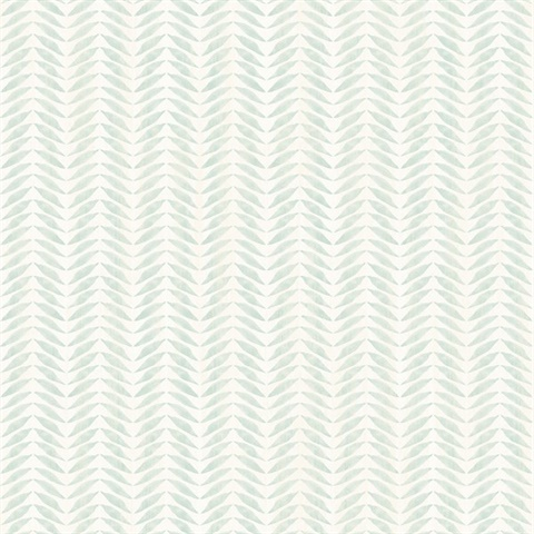 Espalier Teal Chevron Stripe
