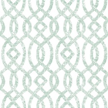 Ethereal Sea Green Trellis