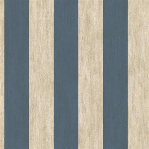 Pur194525 Etty Blue Awning Stripe Wallpaper Wallpaper