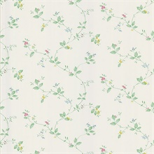 Eva Pastel Floral Trail Wallpaper