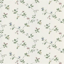 Eva White Floral Trail Wallpaper