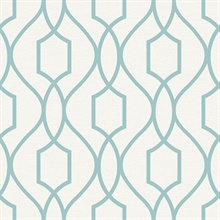 Evelyn Teal Trellis
