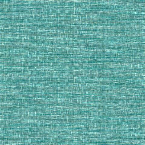 2744 24118 Exhale Teal Faux Grasscloth Wallpaper Boulevard