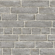 Façade Grey Brick Wallpaper