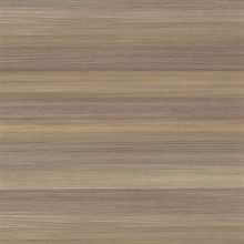 Fairfield Chestnut Horizontal Stripe Textured Vinyl Wallpaper