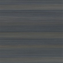 Fairfield Dark Blue Horizontal Stripe Textured Vinyl Wallpaper