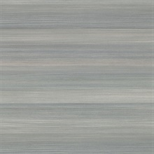 Fairfield Slate Horizontal Stripe Textured Vinyl Wallpaper