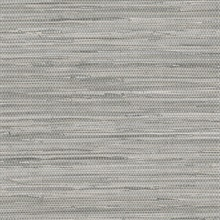 Grey Faux Grasscloth Wallpaper