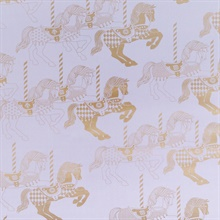 Fayre's Fair - Heather & Gold colourway wallpaper