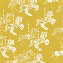 Fayre's Fair - Mustard colourway wallpaper