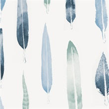 Feathers - Chalkhill Blue colourway wallpaper