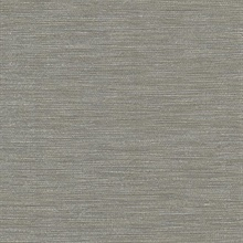 Fiennes Taupe Faux Grasscloth Wallpaper