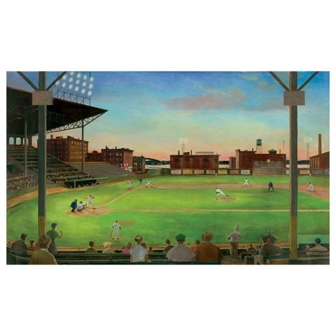 Ur2024mmp first pitch baseball diamond mural for Baseball wallpaper mural