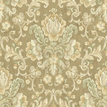 Floral Cameo Damask