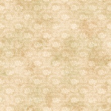 Florra Sand Faux Textured Damask Wallpaper