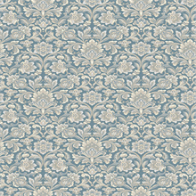 Foglavik Blue Slate Damask Wallpaper