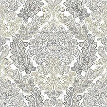 Fontaine Grey Damask Wallpaper