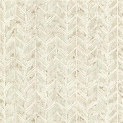 Hzn43064 Foothills Beige Herringbone Texture Wallpaper