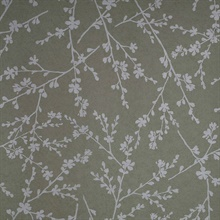 Forsythia Beige Twiggy Wallpaper