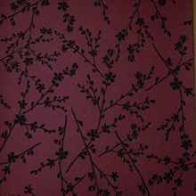 Forsythia Burgundy Twiggy Wallpaper