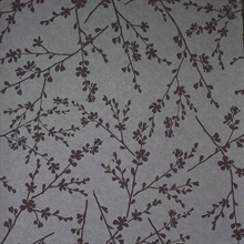 Forsythia Mauve Twiggy Wallpaper