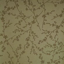 Forsythia Yellow Twiggy Wallpaper
