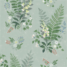 Foxglove Sage Botanical Wallpaper