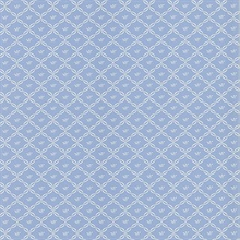 Frances Blue Ribbon Trellis Wallpaper
