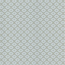 Frances Light Blue Ribbon Trellis Wallpaper