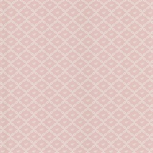 Frances Pink Ribbon Trellis Wallpaper