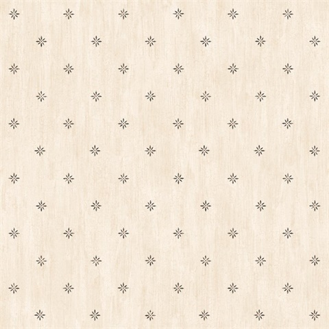 Frannie Cream Stencil Starburst Toss Wallpaper