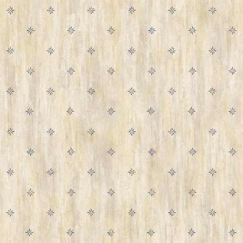 Frannie Wheat Stencil Starburst Toss Wallpaper