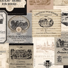 French Wine Labels Wallpaper
