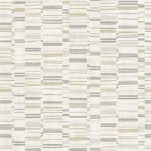 Fresnaye Grey Linen Horizontal Stripe Wallpaper